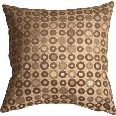 Kinley Spheres Square Throw Pillow Color: Brown