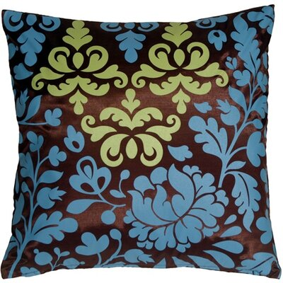 Bohemian Damask Throw Pillow Color: Brown/Blue/Olive