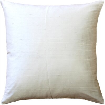 Finlay Solid Silk Throw Pillow Size: 20 H x 20 W x 6 D, Color: Ivory