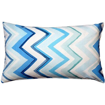 Emory Cotton Lumbar Pillow Color: Blue