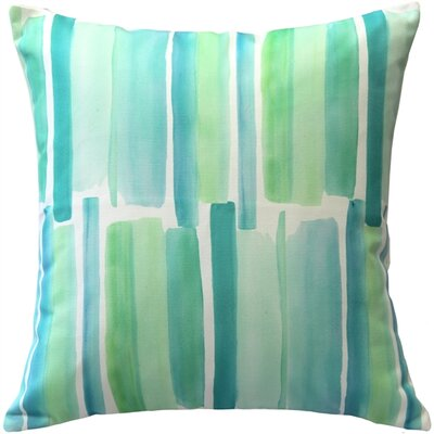 Princetown Beach Glass Throw Pillow Color: Blue