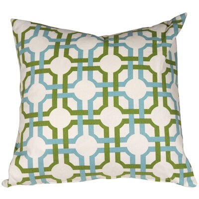 Jamaal Groovy Grille Cotton Throw Pillow Color: Confetti