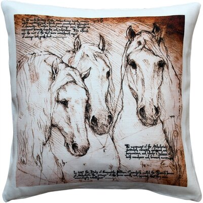 Chelseaville Andalusian Horses Indoor/Outdoor Throw Pillow