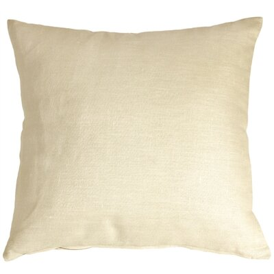 Newsome Linen Throw Pillow Size: 20 H x 20 W x 6 D, Color: Cream