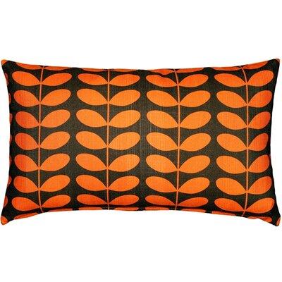 Faviola Mid-Century Modern Indoor/Outdoor Lumbar Pillow Color: Orange