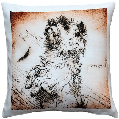 Charie Cairn Terrier Sitting up Dog Indoor/Outdoor Throw Pillow