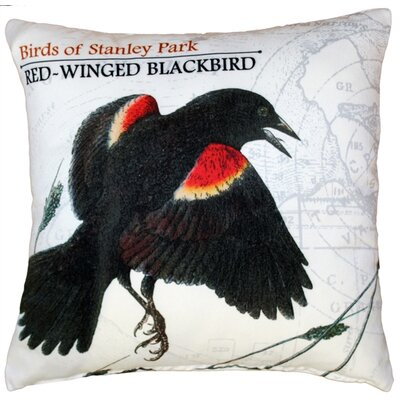 Francois Red-Winged Blackbird Throw Pillow