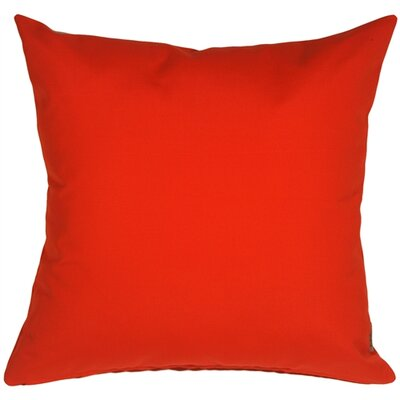 Londyn Outdoor Sunbrella Throw Pillow Color: Logo Red