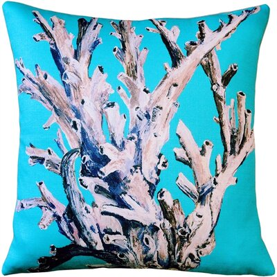 Ocean Reef Coral Throw Pillow Color: Turquoise