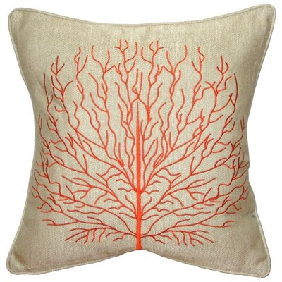 Isla Fire Coral Throw Pillow Color: Orange