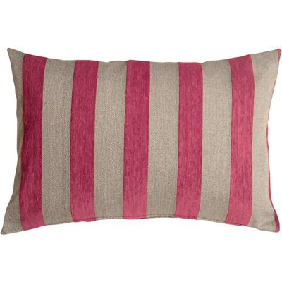 Boutin Stripes Rectangular Lumbar Pillow Color: Pink