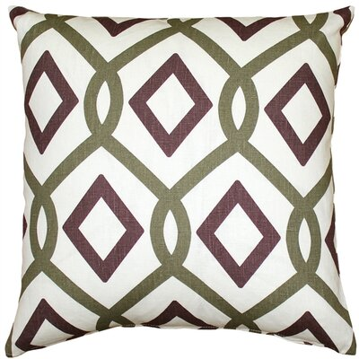 Vanderford Diamond Chain Linen Throw Pillow Size: 18 H x 18 W x 5 D