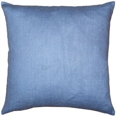 Newsome Linen Throw Pillow Size: 17 H x 17 W x 5 D, Color: Pacific Blue