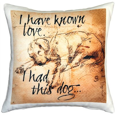 I Have Known Love Sleeping Lab Dog Indoor/Outdoor Throw Pillow