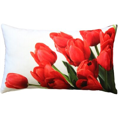 Spring Tulips Indoor/Outdoor Lumbar Pillow