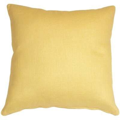Tuscany Linen Throw Pillow Size: 17 H x 17 W x 5 D, Color: Banana Yellow