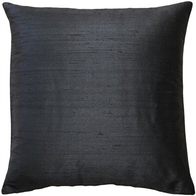 Finlay Solid Silk Throw Pillow Size: 16 H x 16 W x 5 D, Color: Black