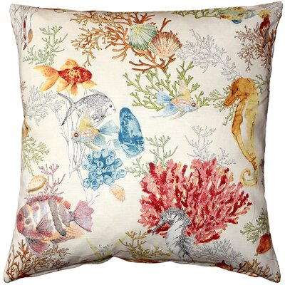 Bettencourt Reef Fish Cotton Throw Pillow