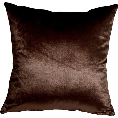 Milano Throw Pillow Size: 20 H x 20 W x 6 D, Color: Brown
