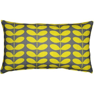 Faviola Mid-Century Modern Indoor/Outdoor Lumbar Pillow Color: Yellow