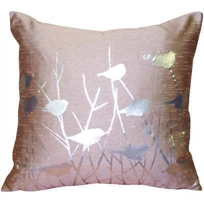 Etienne Birds Throw Pillow Color: Faded Rose