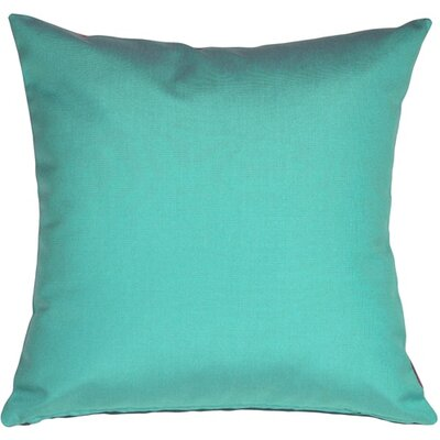 Londyn Outdoor Sunbrella Throw Pillow Color: Aruba Turquoise