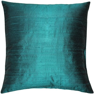 Finlay Solid Silk Throw Pillow Size: 16 H x 16 W x 5 D, Color: Juniper Green