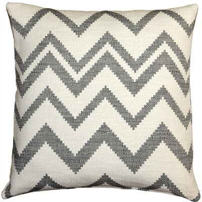 Lorenzo Zigzag Cotton Throw Pillow Color: Gray