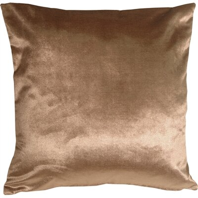 Milano Throw Pillow Size: 20 H x 20 W x 6 D, Color: Light Brown