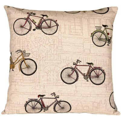 Valtierra Vintage Bicycle Throw Pillow