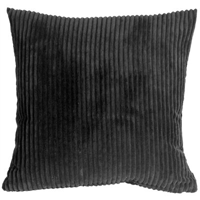Wide Wale Corduroy Throw Pillow Size: 18 H x 18 W x 5 D, Color: Black