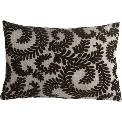 Boutin Ferns Rectangular Lumbar Pillow Color: Black