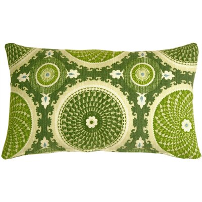 Chessington Medallion Cotton Lumbar Pillow Color: Jade