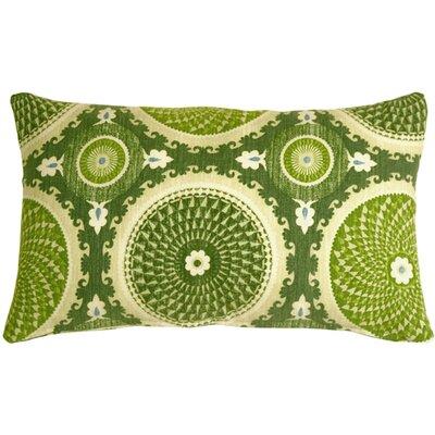 Bohemian Medallion Cotton Lumbar Pillow Color: Jade