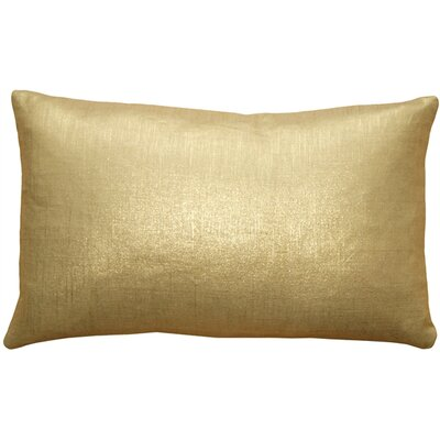 Ressie Linen Lumbar Pillow Color: Gold Metallic