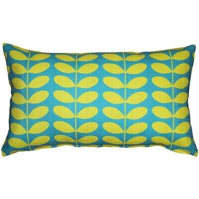 Faviola Mid-Century Modern Indoor/Outdoor Lumbar Pillow Color: Turquoise
