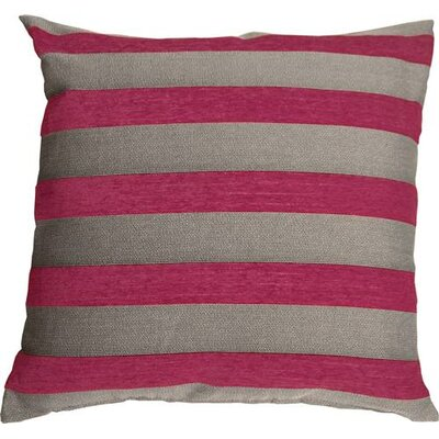 Brackendale Stripes Throw Pillow Color: Pink