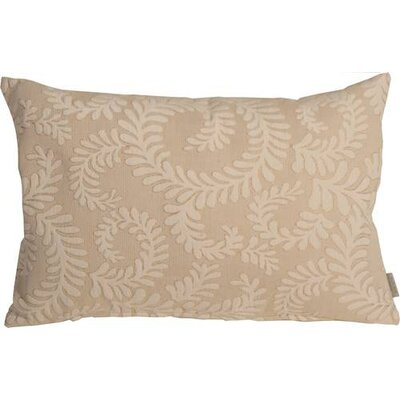 Boutin Ferns Rectangular Lumbar Pillow Color: Cream