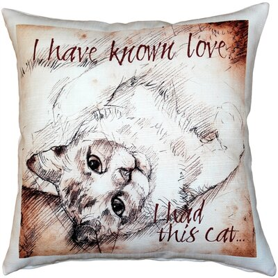 Catalie Cat Indoor/Outdoor Throw Pillow