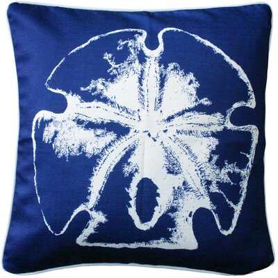 Woodcreek Head Sand Dollar Large Throw Pillow Size: 20 H x 20 W x 6 D