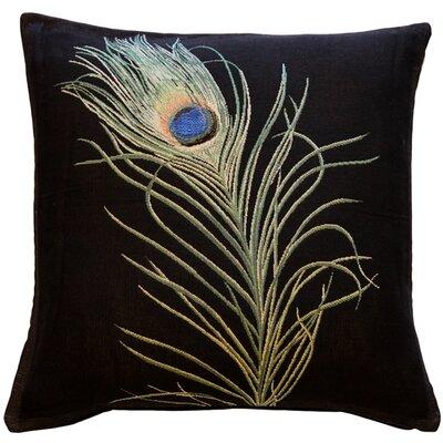 Harrell Peacock Feather Throw Pillow