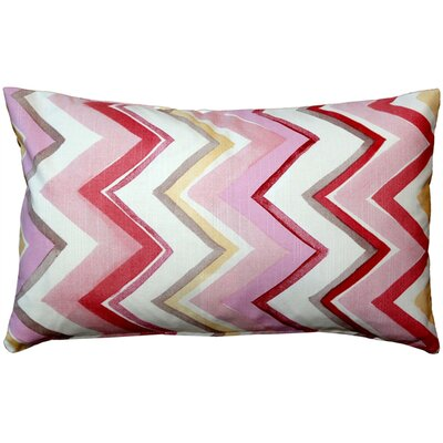 Emory Cotton Lumbar Pillow Color: Pink