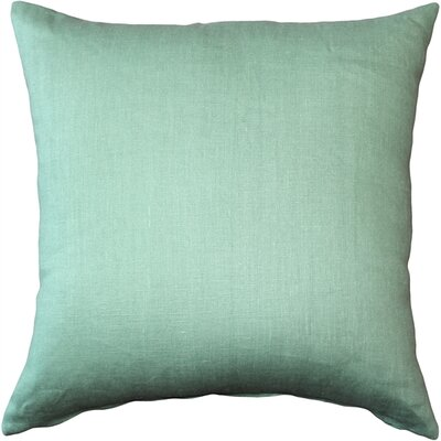 Newsome Linen Throw Pillow Size: 20 H x 20 W x 6 D, Color: Aqua Green