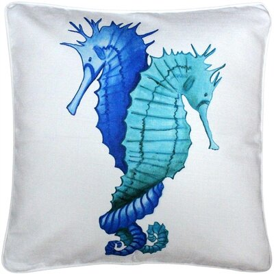 DeSoto Entwined Seahorses Throw Pillow