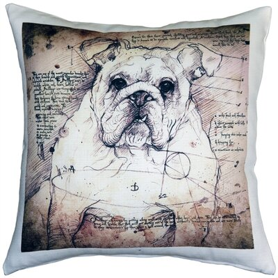 Catella British Bulldog Dog Indoor/Outdoor Throw Pillow