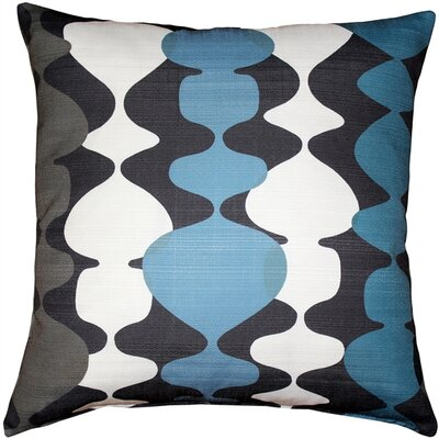 Westmore Indoor/Outdoor Throw Pillow Color: Charcoal/Blue
