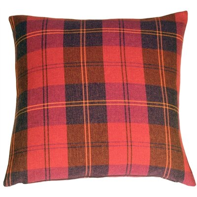 Coulver Contemporary Plaid Throw Pillow Color: Red