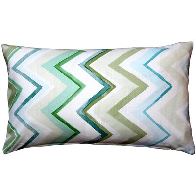 Emory Cotton Lumbar Pillow Color: Green