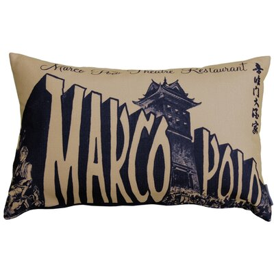 Frank Marco Polo Theatre Restaurant Lumbar Pillow Color: Taupe