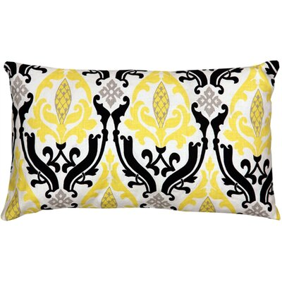 Arcadia Print Linen Lumbar Pillow Color: Yellow/Black
